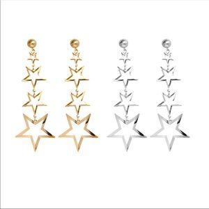 "🦋2/$35 NWT EARRINGS ""STARS ALIGN""  gold & silver"